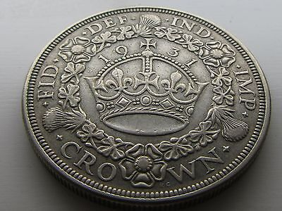 1931 George V Silver Wreath Crown, Grade As Pictures.
