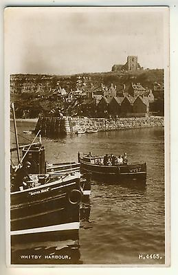 A Valentine's Real Photo Post Card of Whitby Harbour. North Yorkshire