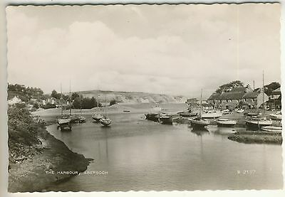A Valentine's Real Photo Post Card of The Harbour, Abersoch. Caernarvonshire