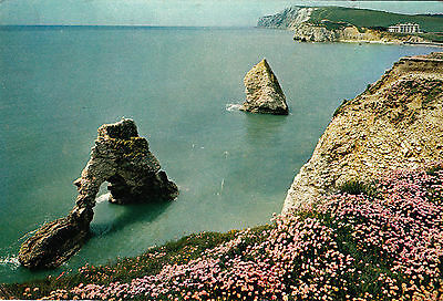 Isle of Wight FRESHWATER BAY The Stack & Arch Arthur Dixon Postcard Posted