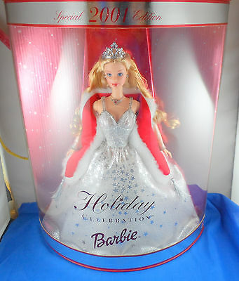 Holiday Celebration 2001 Barbie Doll - NEVER REMOVED FROM BOX - FREE US SHIPPING