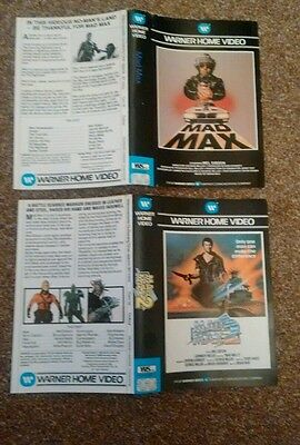 MAD MAX WARNER BROTHERS BIG BOX VHS VIDEO SLEEVES MAD MAX 1 & 2 pre cert