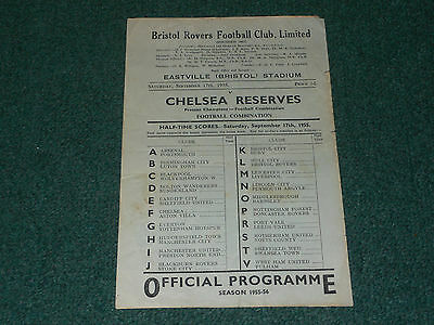 1955/56 Football Combination - BRISTOL ROVERS Reserves v. CHELSEA Reserves