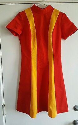 Vintage Burger King Fast Food Collectible Employee Uniform Dress Sz 10