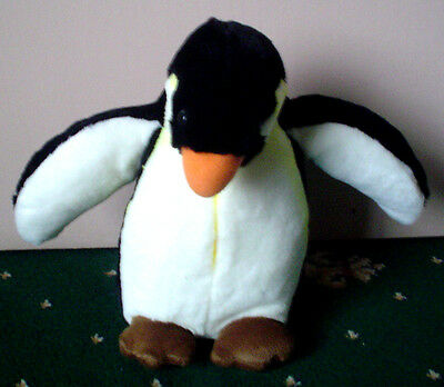 Soft Toy Penguin ~ 9 Inches / 23 Cm Tall ~ Free P&p!
