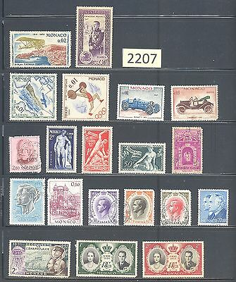 MONACO Fine Used & Mint Stamp Collection MON-2207