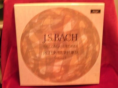 ARGO D150 D3 - 3 LP BOX SET - J S BACH: The Organ Works Vol. 3 - PETER HURFORD