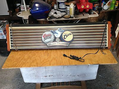 Vintage COORS coors LIGHT Pool Table Billiards Hanging Light Bar Lamp 4 FOOT !!