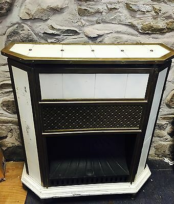 Antique Brass Iron Fireplace Mantle ARCHITECTURAL SALVAGE WOW