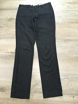 "Ralph Lauren  Dark Grey Herringbone Trousers Size S ( Inside Leg 35"")"