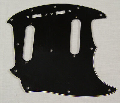 AllParts Black Mustang Pickguard for Fender or Squier All Parts