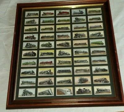 Wills Railway Engines 1936 Complete Set (50) In Display Case Great Condition