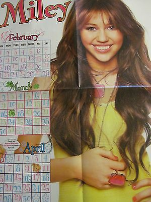 Miley Cyrus, Demi Lovato, Double Four Page Foldout Poster