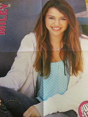 Miley Cyrus, Jesse McCartney, Double Four Page Foldout Poster