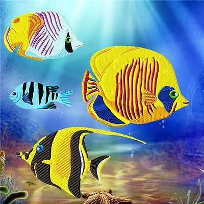 Colourful Fish 10 Machine Embroidery Designs Cd 2 Sizes