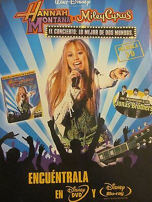 Miley Cyrus, Hannah Montana, Full Page Foreign Print Ad