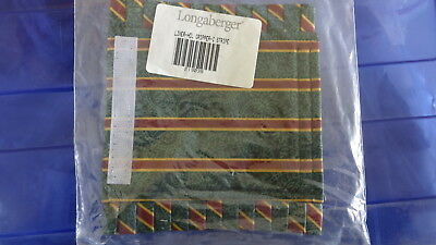 Longaberger Christmas Imperial Stripe Fabric Handle Gripper #2190308- NEW