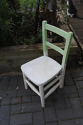 Vintage Child's Chair Solid wood Primary School chair 29 x 30 x 62cm Collect HR1