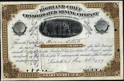 Highland Chief Consolidated Mining Co Of Leadville, Co., 1879