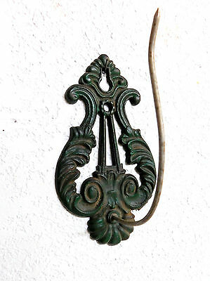 Antique Victorian INVOICE PAPER RECEIPT WALL HOOK ~ Original ~ Drk Green  USA