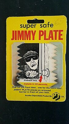 Vintage Jimmy Plate Door Lock Hardware Item.