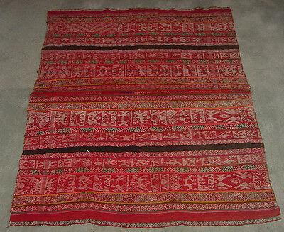 """Handwoven Peruvian Table Cloth or Tapestry from Cusco region-46""""X39"""""""