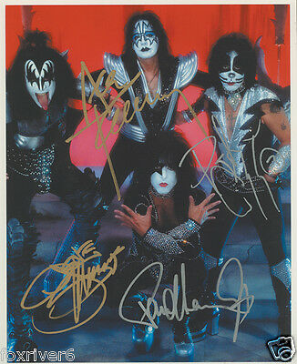 KISS Signed Photograph - Rock Group Stars