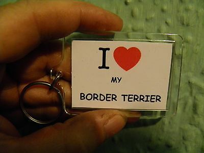 I Love My Border Terrier       Large   60Mmx 45Mm Key Ring