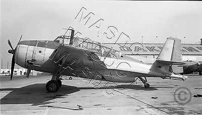 616 Format B&W Aircraft Negative - TBM-3E Avenger N6894C BuNo 53626 Sonora 1960s