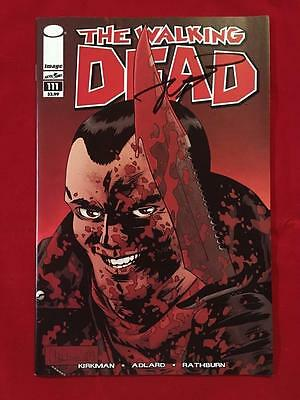 The Walking Dead 111 Signed By Robert Kirkman W/coa Sdcc 1 100 Negan Cover Htf