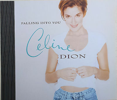"""CELINE DION Display Card Falling Into You UK PROMO ONLY Rare 11"""" x 13"""" Poster"""