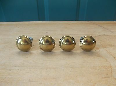 Four Brass 1-Inch Door Pulls