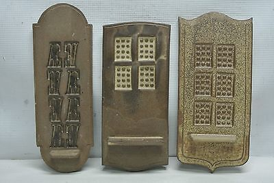 Lot 3 Vintage 'The Pot Shop' Putney Pottery Toothpick Wall Display Holders