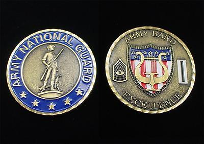 US Army National Guard Army Band Sergeant Major Excellence Medallion Medal