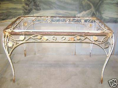 Sale French Antique St Wrought Iron Patio Garden Table