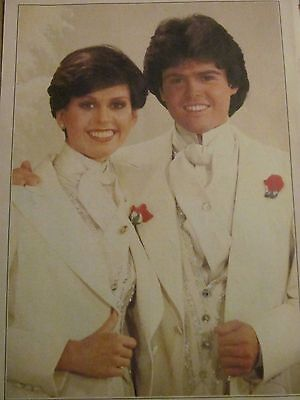 Donny and Marie Osmond, Full Page Vintage Pinup