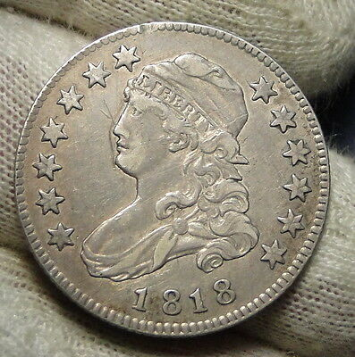 1818 Capped Bust Quarter 25 Cents -  Key Date, Nice Coin, Free Shipping. (3638)