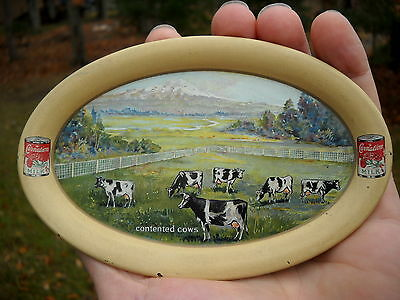SMALL Vtg Advertising TRAY ~ PACIFIC COAST CONDENSED MILK Co. ~ CARNATION Seatle
