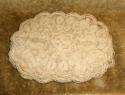 Set of 10 Late 1800's Lace Finger Bowl Doilies