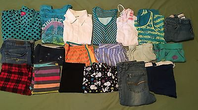 Huge Lot of 19 Girl Clothes Outfits Size 14 Name Brand Justice Old Navy Nike