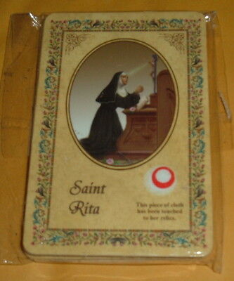 4-SAINT RITA OF CASCIA RELIC HOLY CARDS Italy Patroness of IMPOSSIBLE SITUATIONS