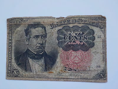 Fractional Currency 1874 10 Cents Note Paper Money United States Old American US