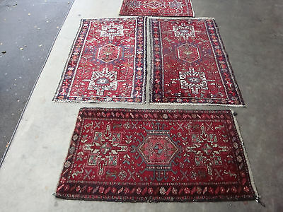 antico-swiss 4 Beautiful Antique Karaja rugs two 2`4 x 4`6 and 2`3 x 3`8 and  ft