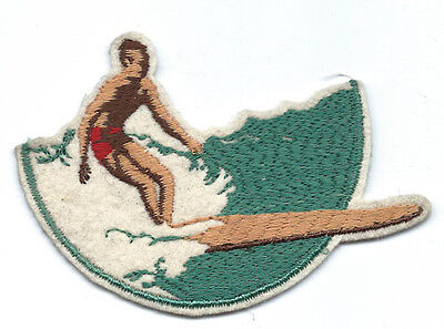 1940's Longboard Surfer / Surfing Patch