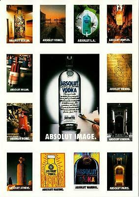 Absolut Image Vodka Advertising Postcard from Italy No. 74