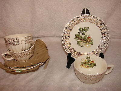 American Limoges Chateau France Cup & Saucer Mint NOS Dinnerware