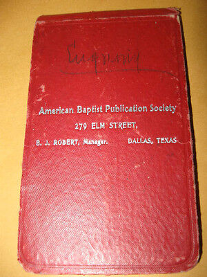 Vintage booklet WRITING TABLET American Baptist Publication Society 1903
