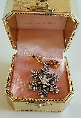 Juicy Couture Snowflake Clip Christmas Charm or Pendant Limited Edition 2007