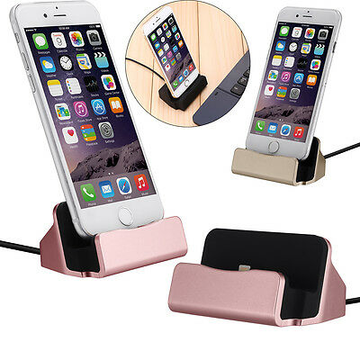Desktop Charger STAND DOCK STATION Sync Charging Cradle For iPhone 6S 7 Plus