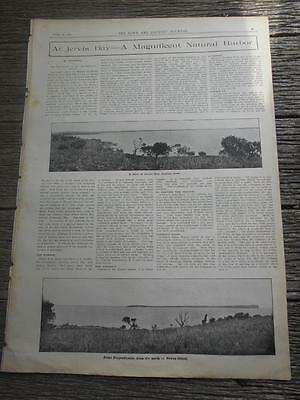 1907 Town Country Jervis Bay Natural Harbor Sydney huge double spread boats